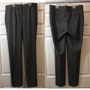 J. Crew Collection Wool Blend Charcoal Dress Pants